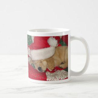 Golden pup holiday mug