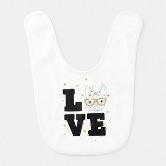 Golden Puppy Love Bib