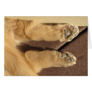Golden Puppy Two Paws Card
