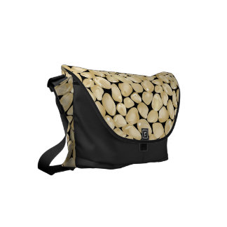 Golden quartz messenger bag
