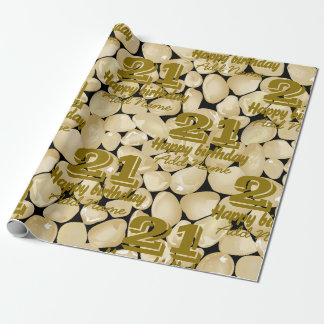 Golden quartz wrapping paper