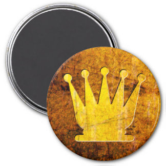 Golden Queen - Zero Gravity Chess (Metal E) 3 Inch Round Magnet
