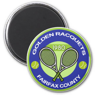 Golden Racquets Magnet