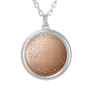 Golden rain silver plated necklace