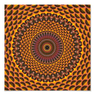 Golden Rainbow Mandala Pattern Photo