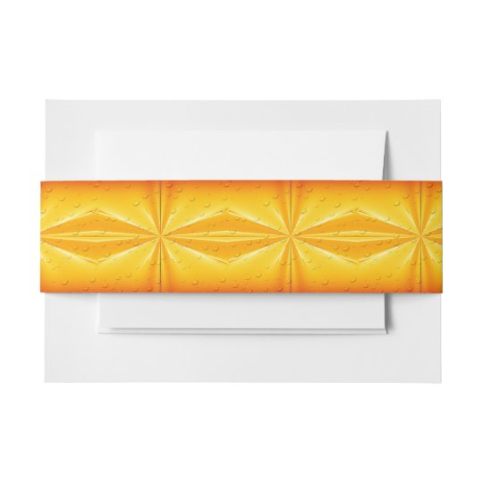 Golden Raindrops Invitation Belly Band