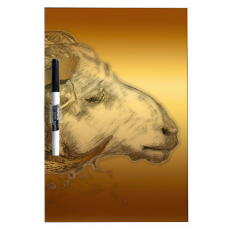 Golden Ram or Aries Chinese Western Astrology Dry-Erase Whiteboards
