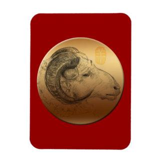 Golden Ram Sheep Chinese New Year Magnet