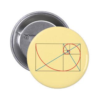 Golden Ratio 2 Inch Round Button