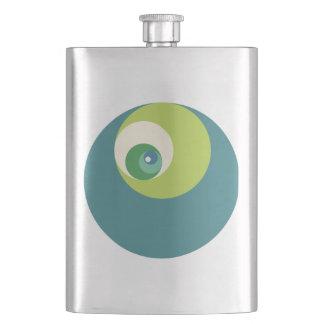 Golden Ratio Circles (Green) Hip Flask