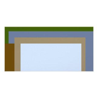 Golden Ratio Copper Blocks Photo Card