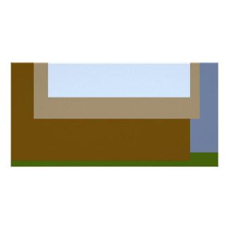 Golden Ratio Copper Blocks Personalized Photo Card