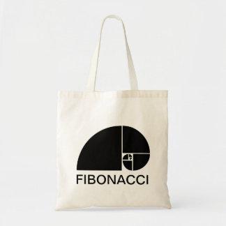 Golden Ratio, Fibonacci Spiral Budget Tote Bag
