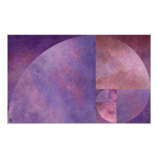 Golden Ratio, Fibonacci Spiral Poster