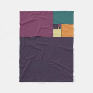 Golden Ratio Squares Fleece Blanket