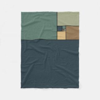 Golden Ratio Squares (Neutrals) Fleece Blanket