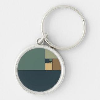 Golden Ratio Squares (Neutrals) Keychain