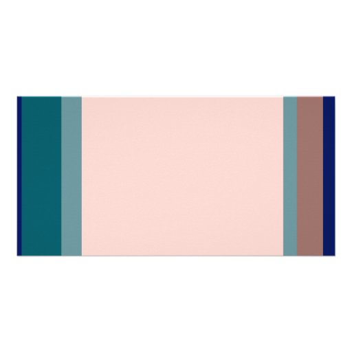 Golden Ratio Teal Blush Blocks Picture Card
