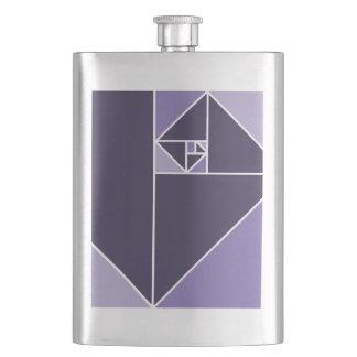 Golden Ratio Triangles (Purple) Flask