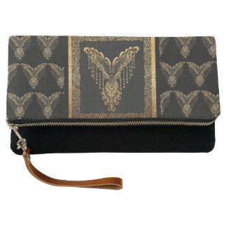 Golden raven clutch