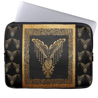 Golden raven laptop sleeve