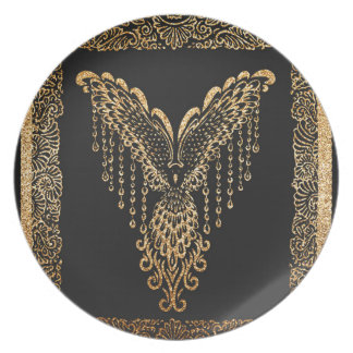 Golden raven plate