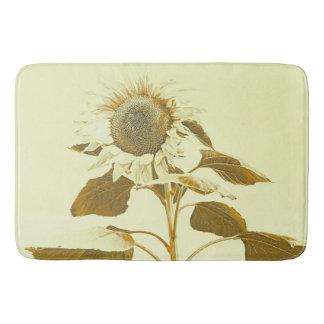 Golden Rayed Sunflower Bathmat