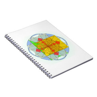Golden rectangle shapes notebook