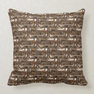 Golden Rectangles Designer  Throw Pillow by Julie