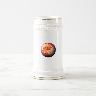 Golden Red Abstract Globe Beer Steins