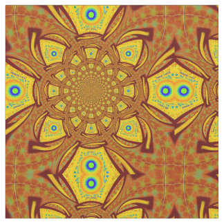 Golden red African Asian traditional colors fabric