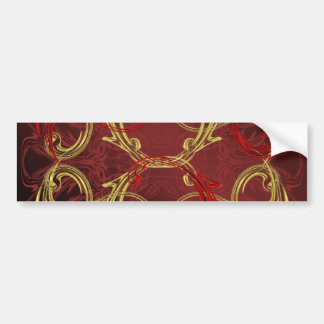 golden, red and black shiny festive colored bumper sticker