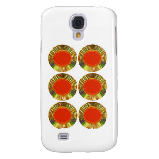 Golden RED Circles Energy HEALING Decorative GIFT HTC Vivid / Raider 4G Cover