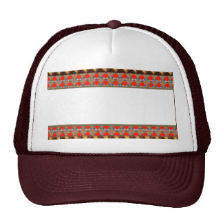 Golden RED Jewel Border: Add GREETING Text r Image Trucker Hat