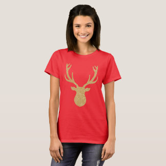 Golden reindeer Christmas T-Shirt