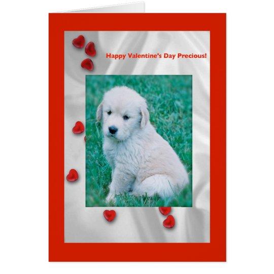 Golden Retreiever Love Valentine Card