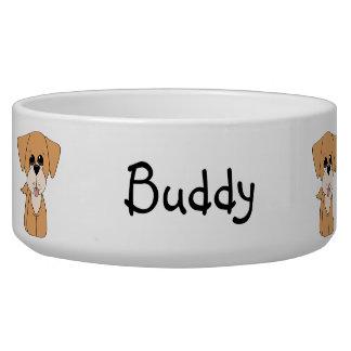 Golden Retreiver Dog Bowl
