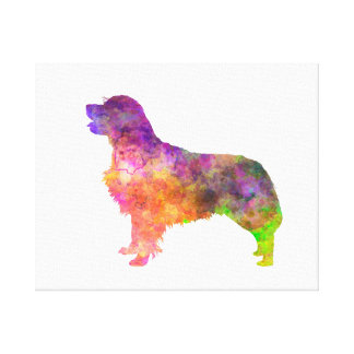 Golden retriever 01 in watercolor 2 canvas print