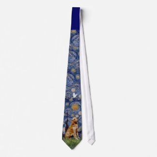 Golden Retriever 1 in Starry Night Tie