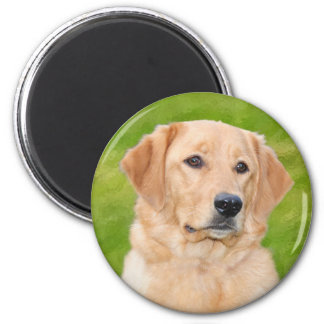 Golden Retriever 2 Inch Round Magnet