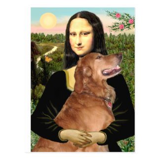 Golden Retriever 3 - Mona Lisa Post Card