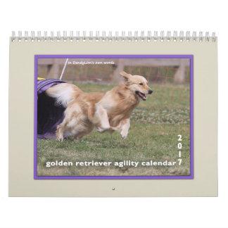 Golden Retriever Agility 2017 Calendar