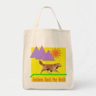 Golden Retriever Agility 'Rock' Grocery Tote