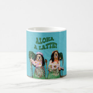Golden Retriever Aloha A Latte Coffee Mug