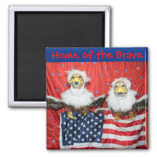 Golden Retriever American Eagles Home of the Brave Magnet
