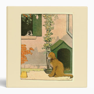 Golden Retriever and Dog House 3 Ring Binders