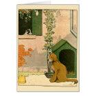 Golden Retriever and Jack Russell Terrier Card