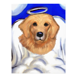 Golden Retriever Angel Letterhead
