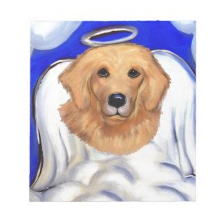Golden Retriever Angel Notepad