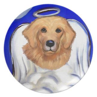 Golden Retriever Angel Plate